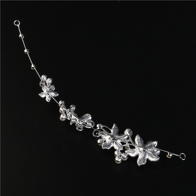 TINKSKY Fashion Delicate Women s Wedding Bridal Crystal Rhinestones Flower    Faux Pearls Decor Hair Band Headband Tiara Headdress fb460a3c2c3f
