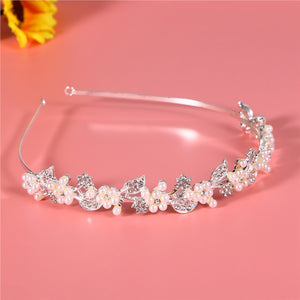 Wedding Bridal Rhinestone and Pearl Decorated Tiara / Hair Barrettes / Hairband / Hair Loop
