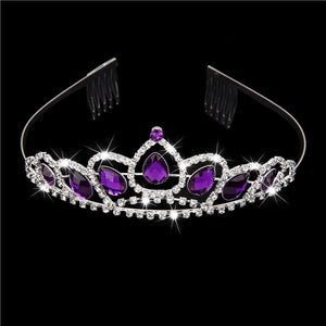 Delicate Wedding Bridal Prom Shining Rhinestone Crown Princess Tiara Headband Headpiece with Comb