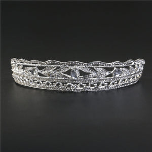 Fashion Rhinestones Princess Crown Headband Diamond Hair Wedding Tiara Bride Prom Headpiece