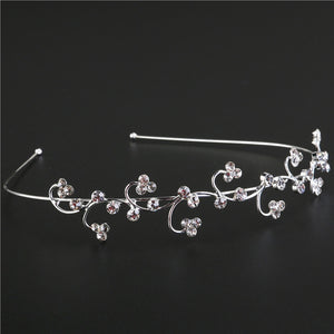 Wedding Bridal Rhinestone Decorated Floral Hair Barrettes / Hairband / Hair Loop