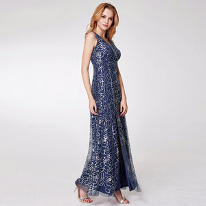 Sequined Empire Bridesmaid Dress