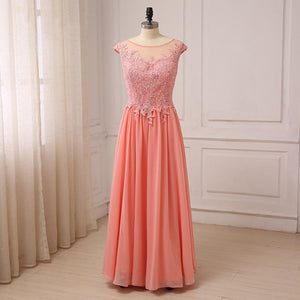 Chiffon Cap Sleeve Bridesmaid Dress