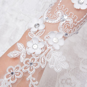 Candice Lace Bridal Gloves