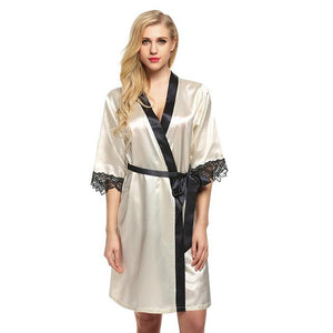 KNEE LENGTH KIMONO WITH CONTRAST EDGING