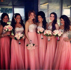 Draped Chiffon Bridesmaids Dresses