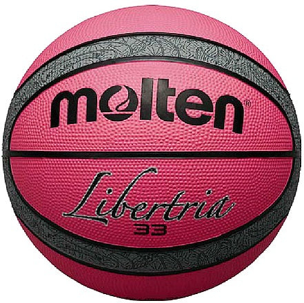 Libertria Rubber Basketball - Pink/Grey