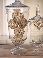 4 x Decor Balls Vase Filler Woven Handmade Home or Wedding Decor Natural Ball