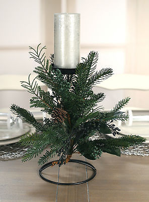 Christmas Candle Holder Table Centre Decor Pine & Cedar Xmas Decoration 1 Candle