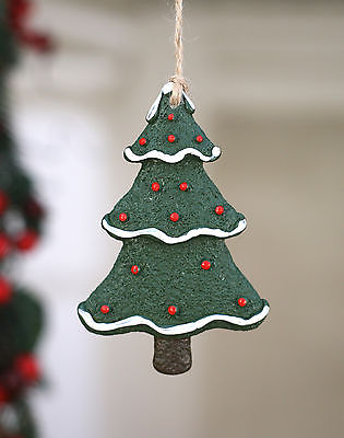 Christmas Tree Ornament Festive Hanging Tree Decoration Gift Ceramic 10cms