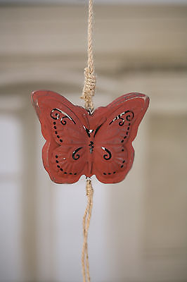 Butterfly Rustic Hanging Home Decor Hanger Homewares 40cms BRAND NEW Red