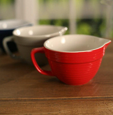 Batter Jug 14cms. BRAND NEW. Three Colours (Red)