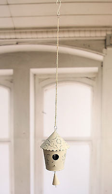 Rustic Hanging Tin Birdhouse Home Decor Gift Outdoor Hanger 67cms BRAND NEW