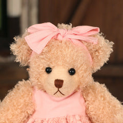 Teddy Bear 'Jennifer' Settler Bears Handmade Pink Dress Gift 35cms BRAND NEW