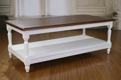 Coffee Table Solid Hardwood French Provincial Timber Top Table Furniture 120x60