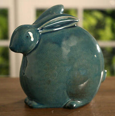 Ceramic Green Bunny Home Decor Gift 18cms