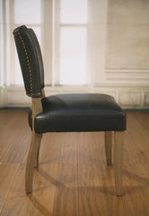 Valance Dining Chair Antiqued Leather & Oak