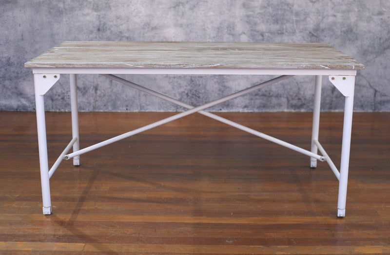 Dining Table French Industrial 160x90cm Timber Top