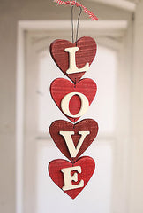 Hanging LOVE Hearts Home Decor Hanger Homewares Gift 38cms