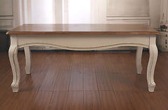 Coffee Table French Provincial Timber Top 'Louis' Table 120x60