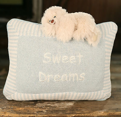 Cushion Throw Pillow Sweet Dreams Embroidered Boys Filled 30cms BRAND NEW