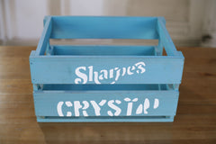 Set of 3 Storage Crates Vintage Style Timber Retro Home Decor Organisation 40cms