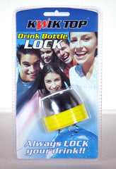 Drink Bottle Lock Protector Combination Protect Drink Spiking Kwik Top Yellow