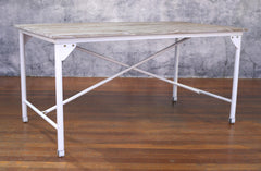 Dining Table French Industrial 200x100cm Timber Top