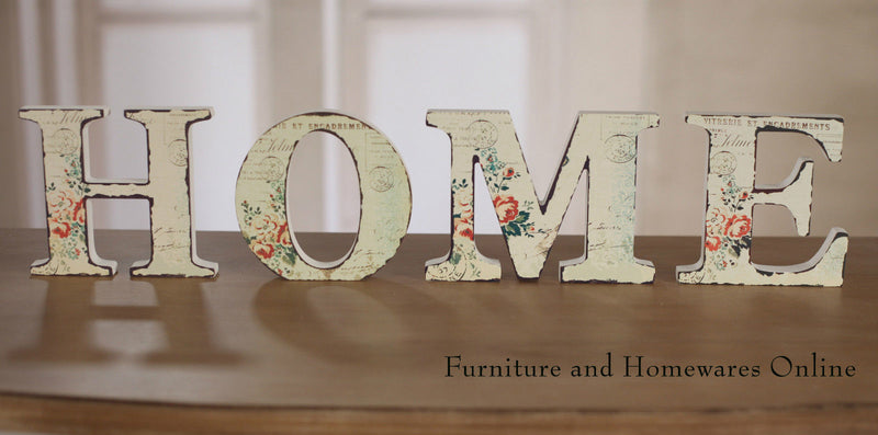 HOME Letters Decor Floral Design Words