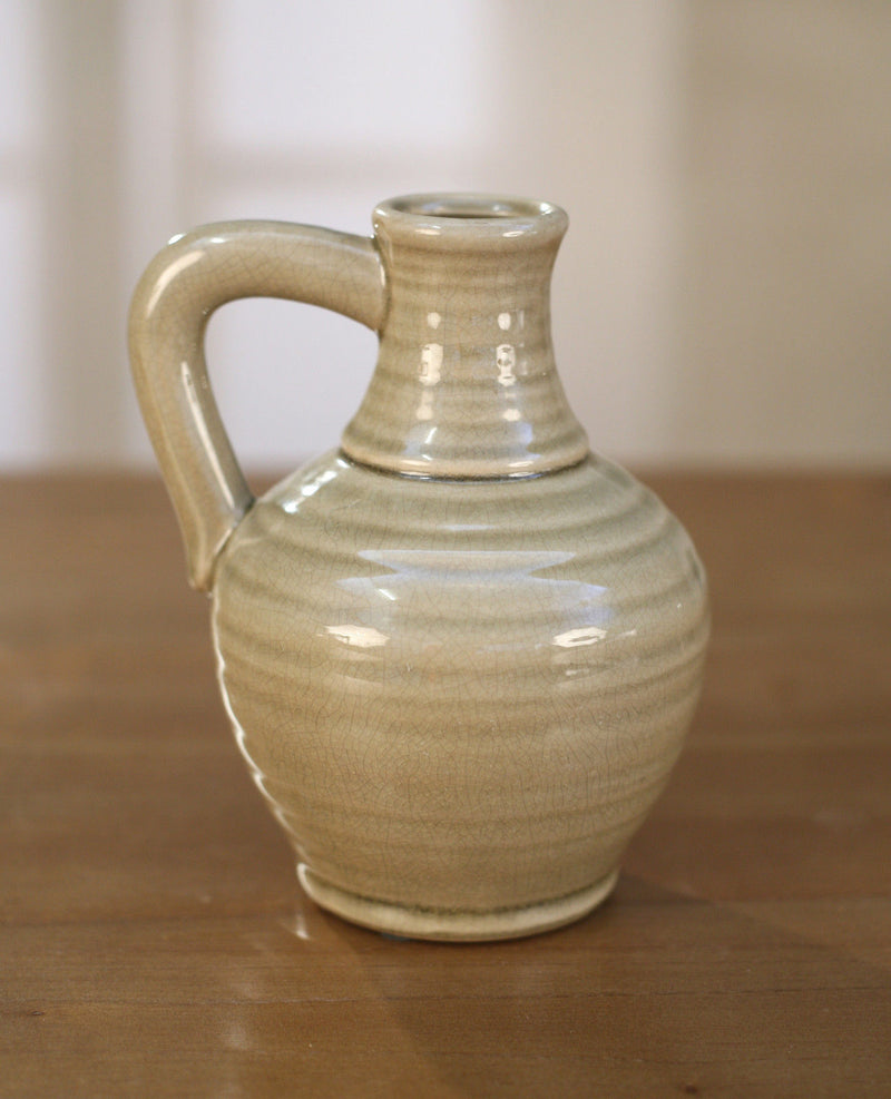 Jug Antique Taupe French Provincial Ceramic Home Decor Vase Gift 17cms BRAND NEW