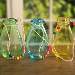 Hanging Bottles Coloured Decor Homewares Gift 13cms BRAND NEW Three Colours