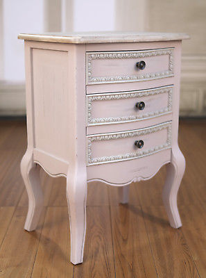 Bedside Chest French Provincial Tall Grey Bedside Table 3
