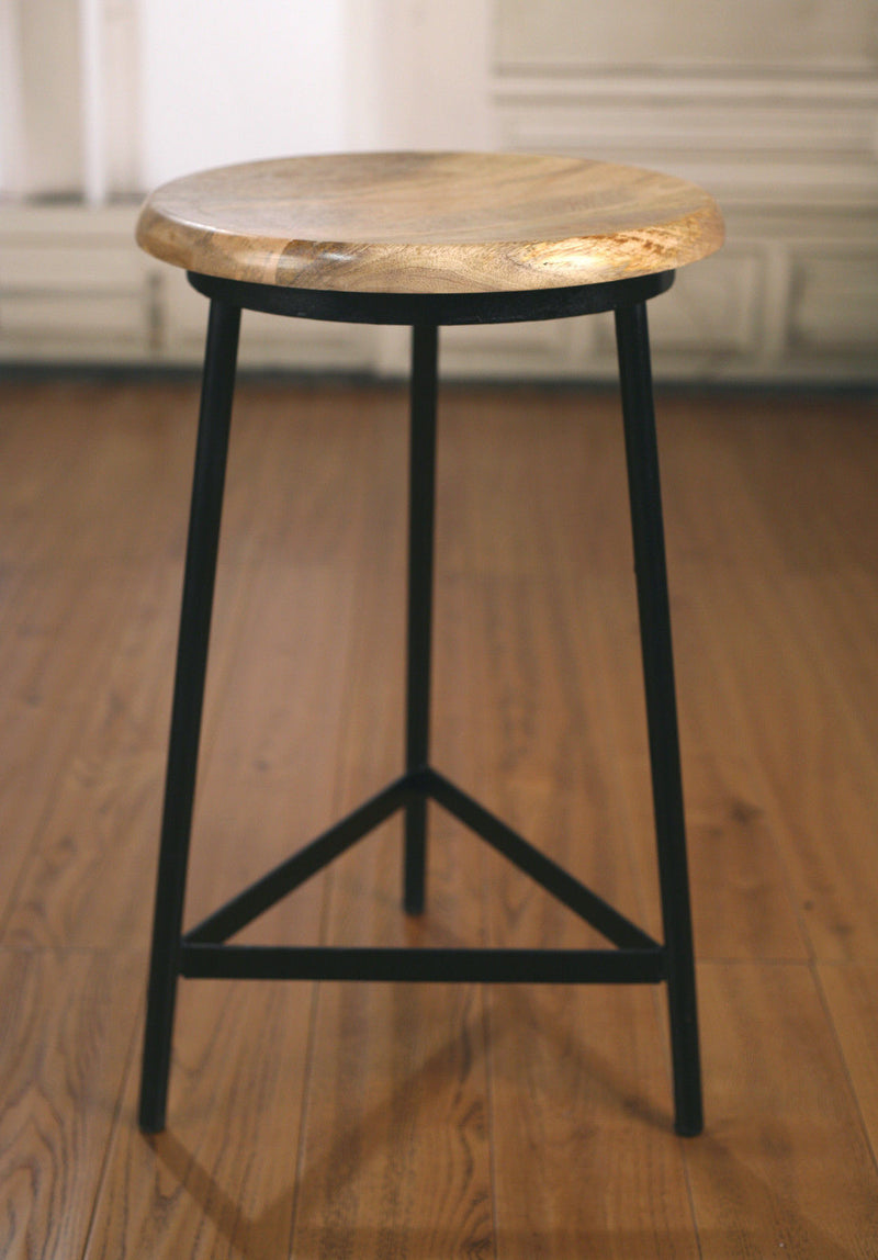 Counter Stool Antique White Cross Back French Provincial Cafe Breakfast