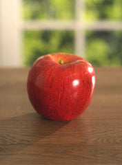 4 x Artificial Red Apples Fake Fruit Faux 8cms