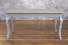Dining Table 160x80cm French Provincial Timber Top Antiqued Design French Legs