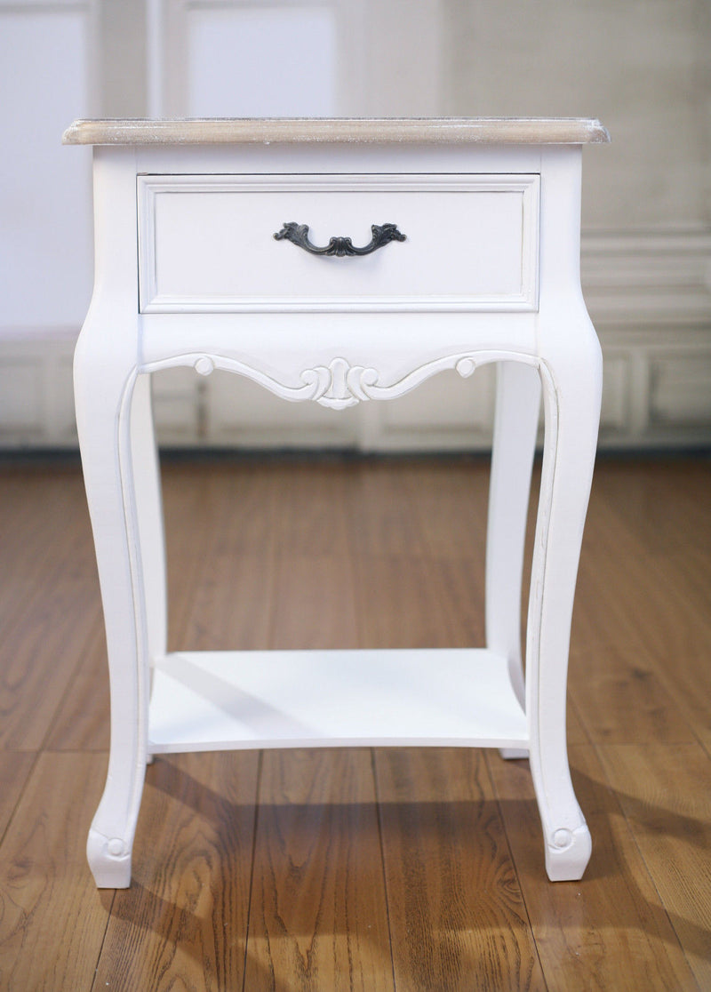 Sophia Bedside Chest White Night Stand With Drawer
