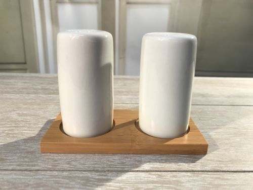 Salt & Pepper Shakers Ceramic Bamboo Kitchenware Table Salt Home Decor Brand New