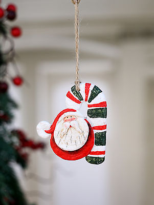 Christmas Ornament Santa Festive Hanging Tree Decoration Candy Cane NEW