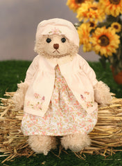 Handmade Teddy Bear 'Rose' Uncle Beans Bears Collectable Gift 36cms NEW