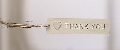 10 x THANK YOU Metal Tag with Twine Loop Party Favours Decor