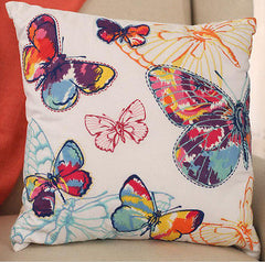 Butterfly Rainbow Cushion Cover Soft Touch Home Decor NEW Two Designs Available