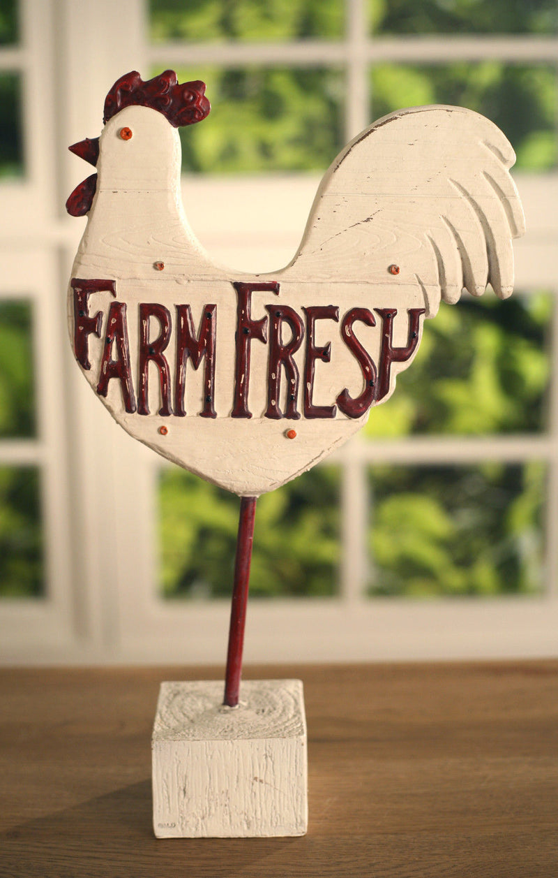 Country Chook Farm Fresh Sign Country Style Home Decor Gift 38cms BRAND NEW