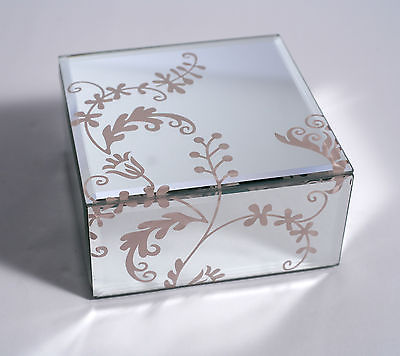 Jewellery Box Lace Pattern Featured Trinket Felt Lined