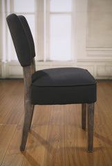 Dining Chair Black Linen French Provincial Oak Bedroom Chair Furniture Brand New