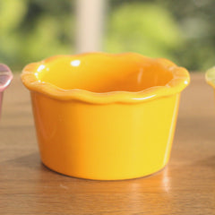 Hors D'oevres Bowls Ceramic Serveware - Orange