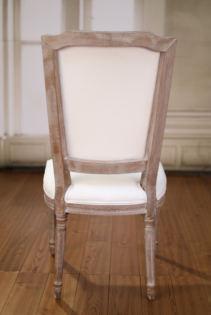 Dining Chair Hamptons French Provincial Hardwood Bedroom Upholstered White New