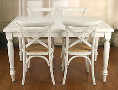 Setting 5 Piece French Provincial Dining PACKAGE Table & Chairs 140x90cm