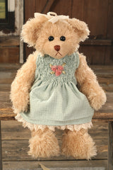 Teddy Bear Ainslie Settler Bears Handmade Green Dress Collectable Gift 38cms NEW