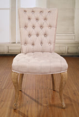 Dining Chair Linen French Provincial Hardwood Oak Bedroom Chair