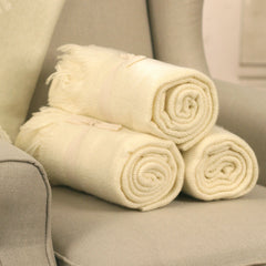 Throw Rug Soft Touch Throw Blanket Decorative Bedding Blanket 127x150cms - CREAM